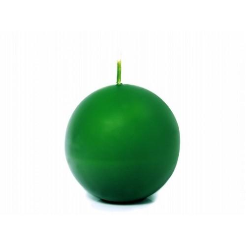 Matowa świeca kula - zielony