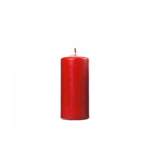 Matowa świeca klubowa - czerwony