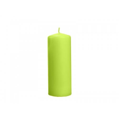 Matowa świeca klubowa - jasna zieleń
