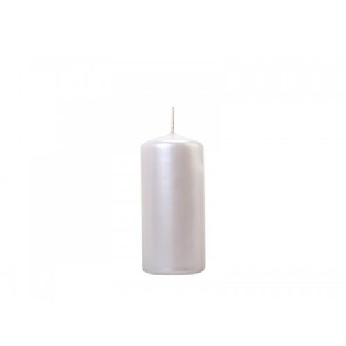 Metaliczna świeca klubowa - perłowy