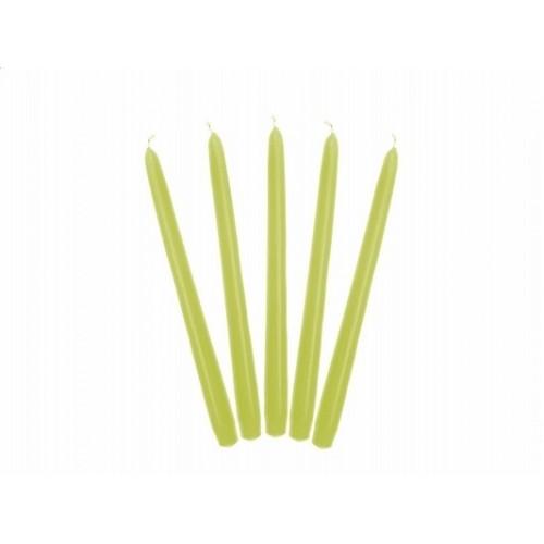 Matowa świeca stożkowa - pistacja (10 sztuk)