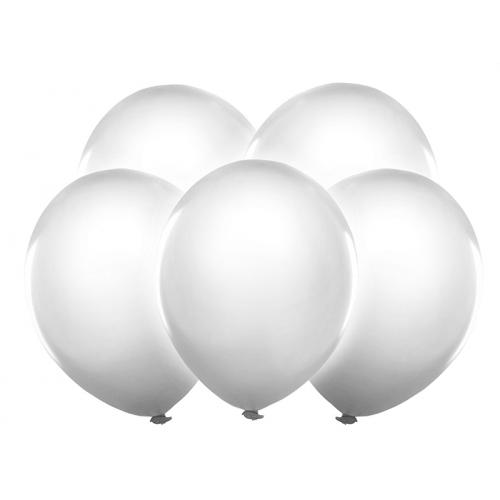 Białe, świecące balony LED (5 sztuk)