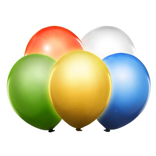 Mix kolorów, świecące balony LED (5 sztuk)