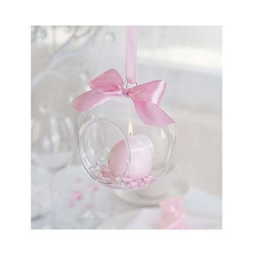 Szklane kule - świeczniki