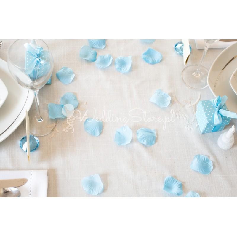 Płatki róż - niebieskie