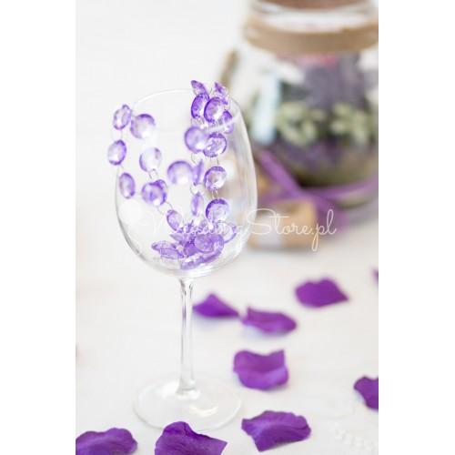 Girlanda kryształowa - fioletowa