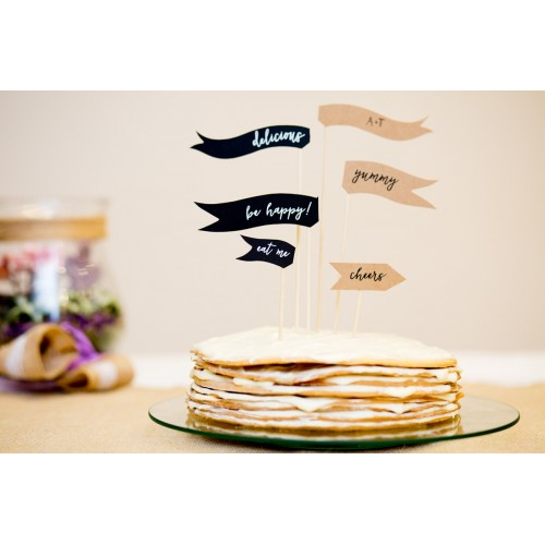 Flagetki na tort i ciasta weselne - Cake Topper!