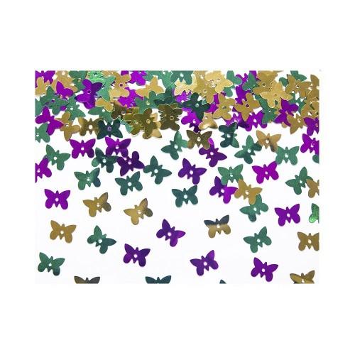 Konfetti - kolorowe, holograficzne motylki