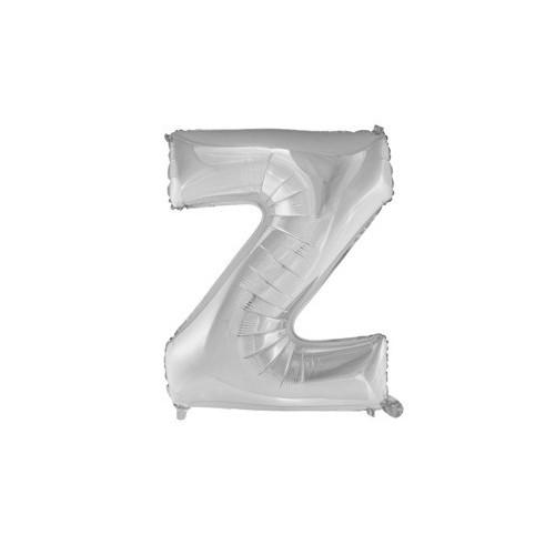 """Foliowy balon litera """"Z"""" - srebrny"""