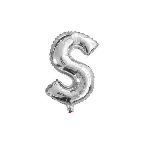 """Foliowy balon litera """"S"""" - srebrny"""