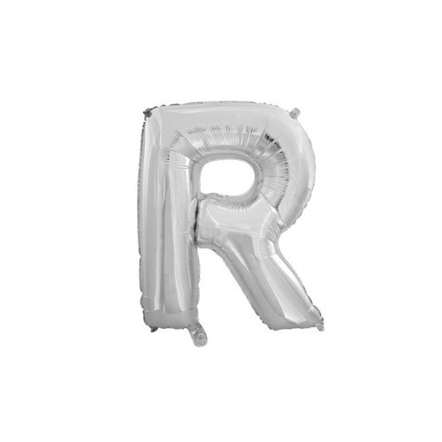 "Foliowy balon litera ""R"" - srebrny"