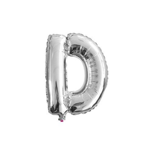"Foliowy balon litera ""D"" - srebrny"