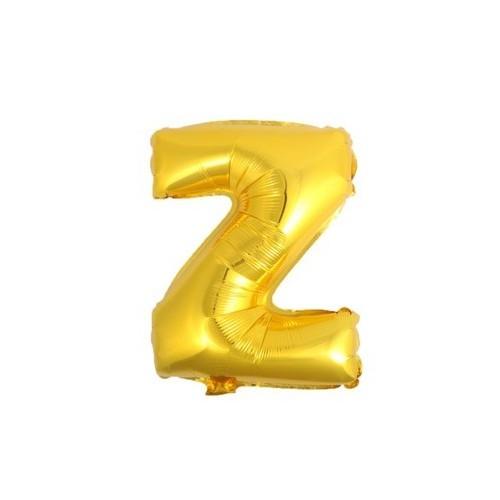 """Foliowy balon litera """"Z"""" - złoty"""