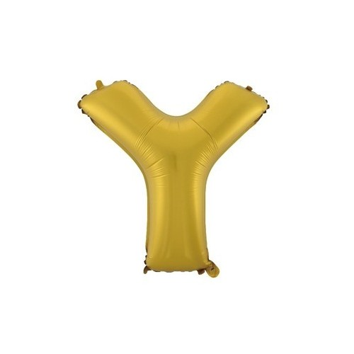 """Foliowy balon litera """"Y"""" - złoty"""