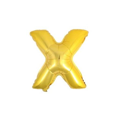 """Foliowy balon litera """"X"""" - złoty"""