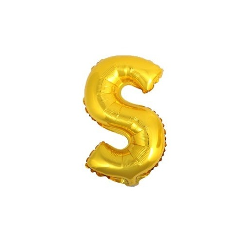 """Foliowy balon litera """"S"""" - złoty"""