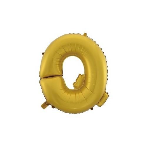 """Foliowy balon litera """"Q"""" - złoty"""