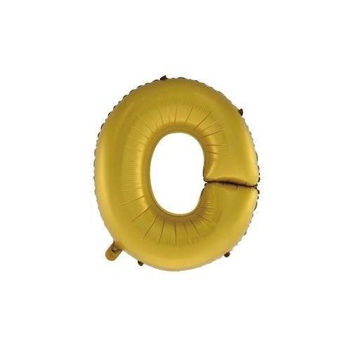 """Foliowy balon litera """"O"""" - złoty"""