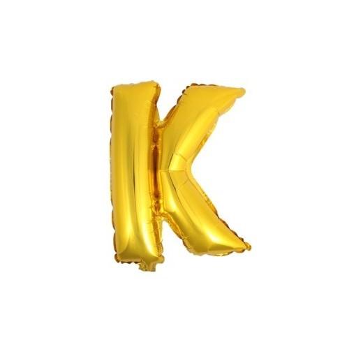 """Foliowy balon litera """"K"""" - złoty"""