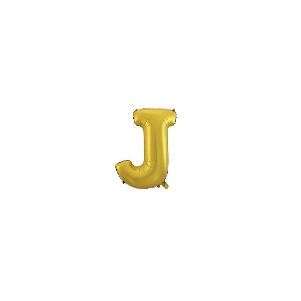 Foliowy Balon Litera J Złoty Weddingstorepl