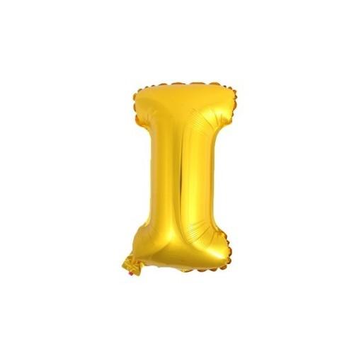 """Foliowy balon litera """"I"""" - złoty"""