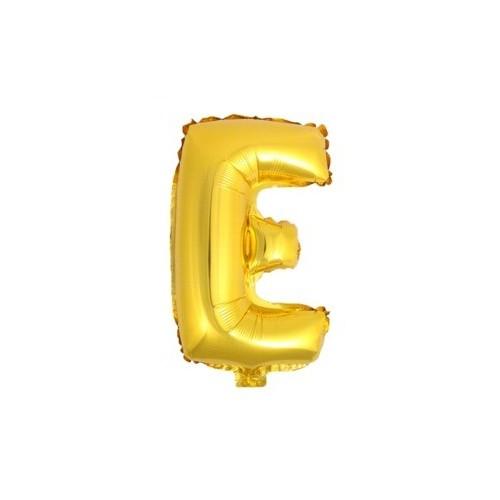 """Foliowy balon litera """"E"""" - złoty"""