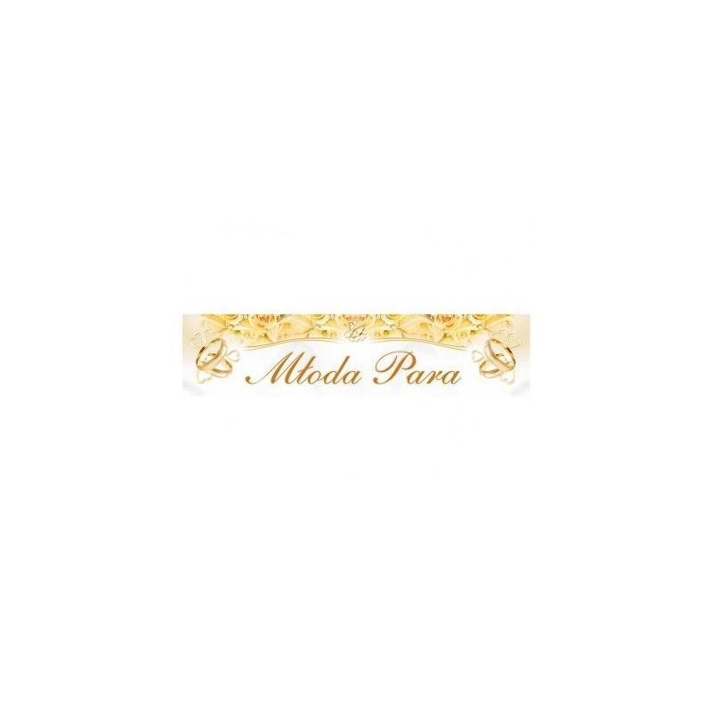 Biało - złota tablica rejestracyjna - MŁODA PARA