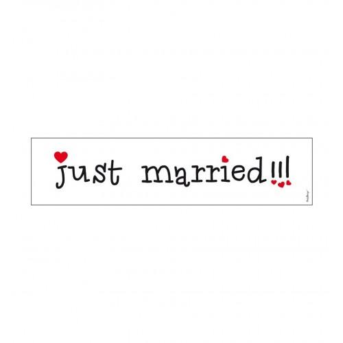 Biała tablica rejestracyjna - JUST MARRIED!!!