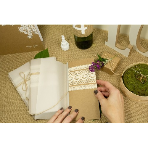 Zaproszenie ślubne - Rustic Lace