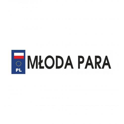 Biała tablica rejestracyjna - MŁODA PARA