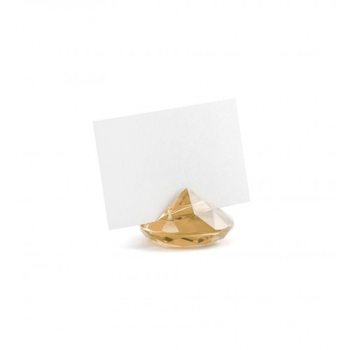 Stojak na wizytówki/winietki - złoty diament (10 sztuk)