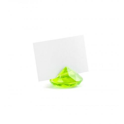Stojak na wizytówki/winietki - zielony diament (10 sztuk)