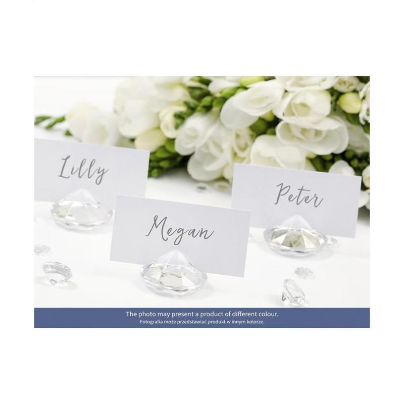 Stojak na wizytówki/winietki - biały diament (10 sztuk)