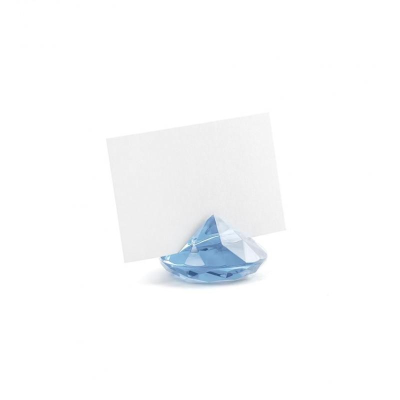 Stojak na wizytówki/winietki - niebieski diament (10 sztuk)