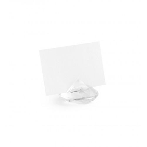 Stojak na wizytówki/winietki - przezroczysty diament (10 sztuk)