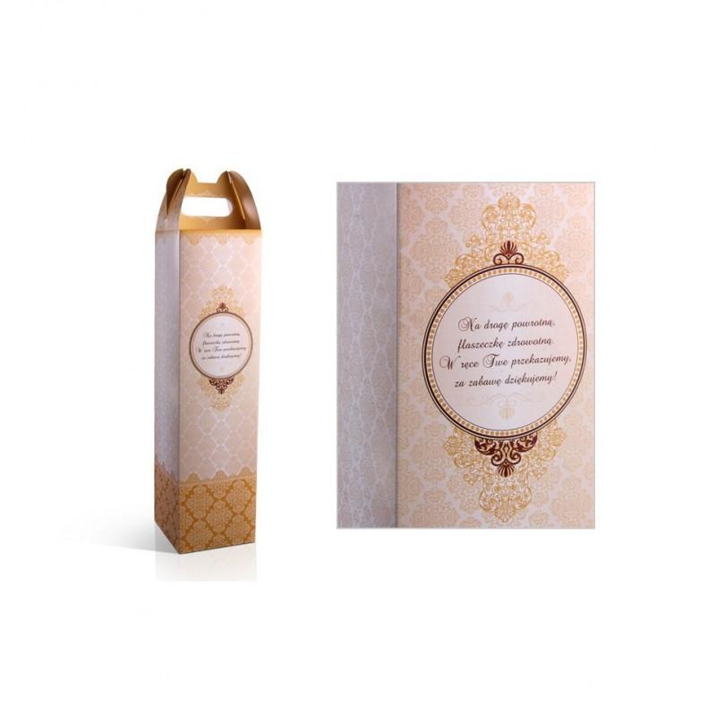 Pudełko na alkohol w odcieniach złota (10 sztuk)