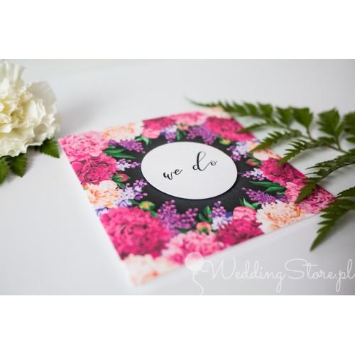 Zaproszenie ślubne - Fuchsia Flowers
