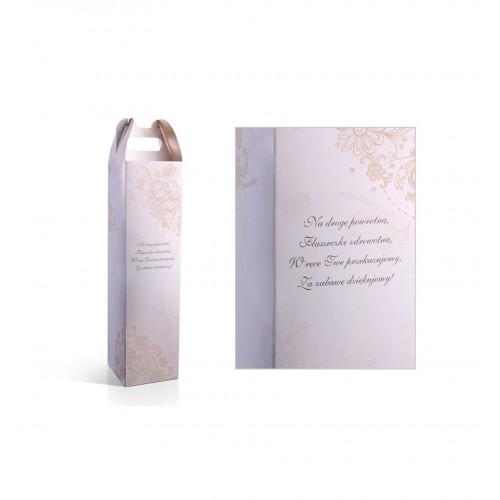Pudełko na alkohol ze złotym, kwiatowym wzorem (10 sztuk)