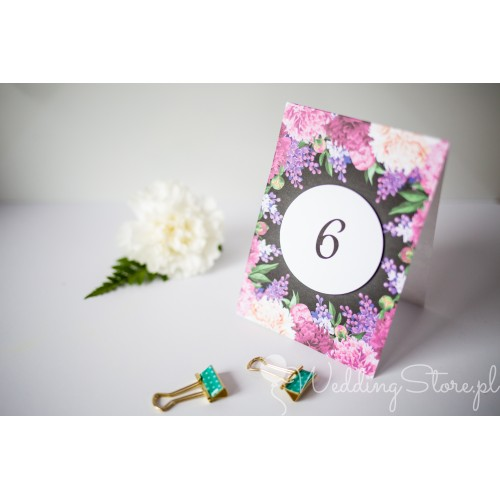 Numer stolika - Fuchsia Flowers