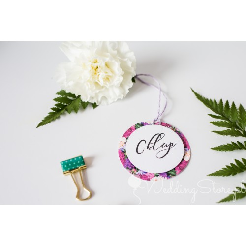 Ozdoba alkoholu - Fuchsia Flowers