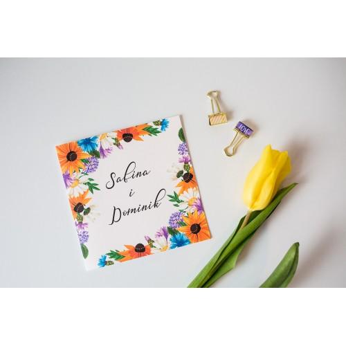 Zaproszenie ślubne - Sunflower Mix