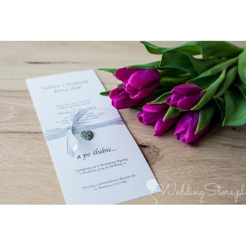 Zaproszenie ślubne - Silver Line