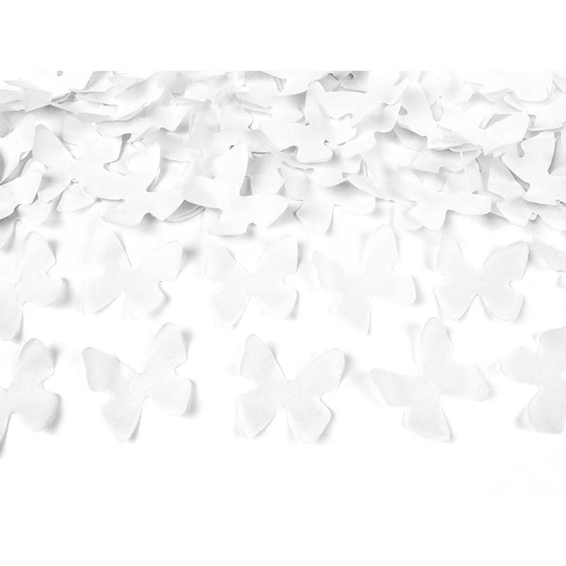 Strzelająca tuba - białe motylki (80 cm)