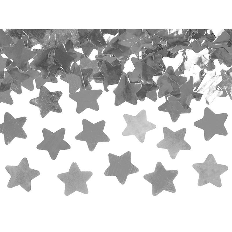 Strzelająca tuba - srebrne gwiazdki (80 cm)