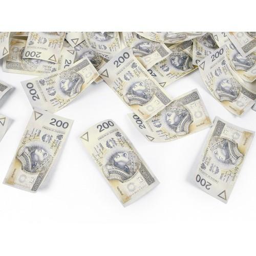 Strzelająca tuba - banknoty 200 zł