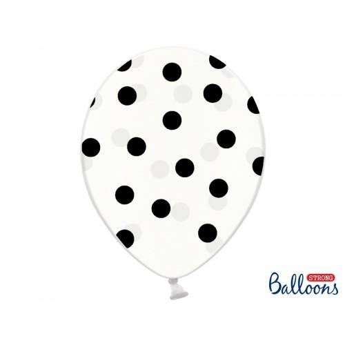 Przezroczyste balony z czarnymi kropkami