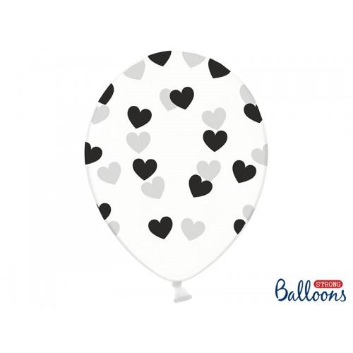 Przezroczyste balony z miętowymi serduszkami
