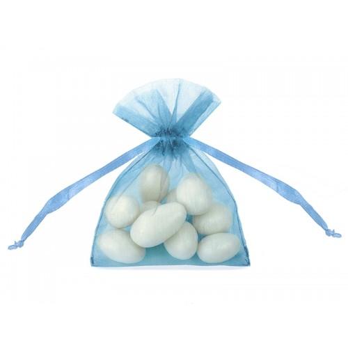 Woreczki z organzy - błękitne (20 sztuk)