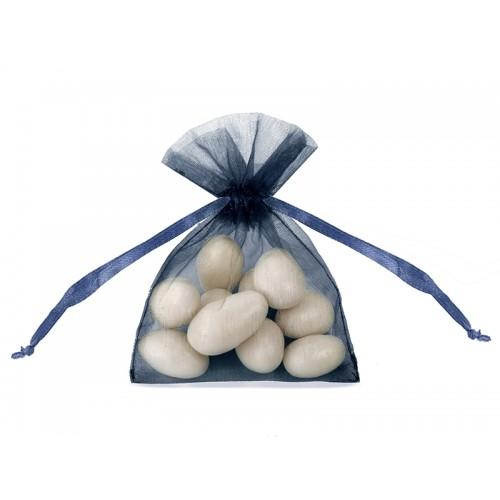 Woreczki z organzy - granatowe (20 sztuk)