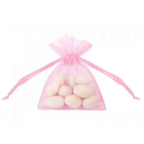 Woreczki z organzy - różowe (20 sztuk)